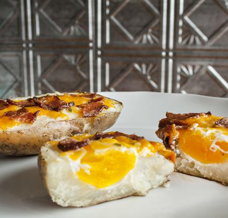 Breakfast Baked PEI Potatoes