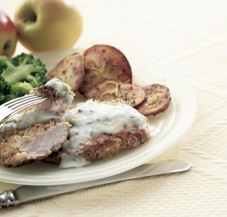 Baked Pork Chops and PEI Potatoes