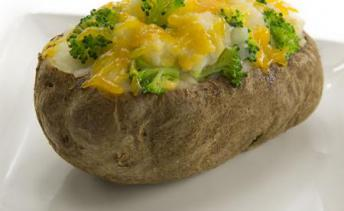 Broccoli & Cheese Stuffed Baked Potato