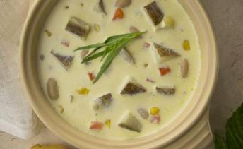 PEI Potato, Corn and Bean Chowder
