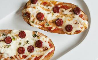Pizza Baked PEI Potatoes