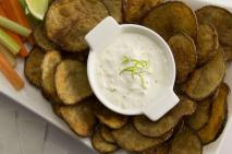 Broiled PEI Potatoes with Lime Dip