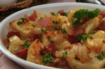 PEI Potatoes with Bacon and Onion